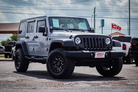 2016 Jeep Wrangler Unlimited for sale at Jerrys Auto Sales in San Benito TX