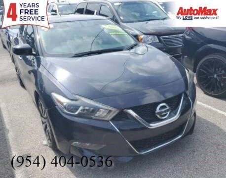 2017 Nissan Maxima for sale at Auto Max in Hollywood FL