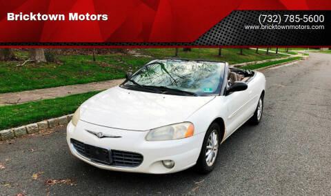 2001 Chrysler Sebring for sale at Bricktown Motors in Brick NJ