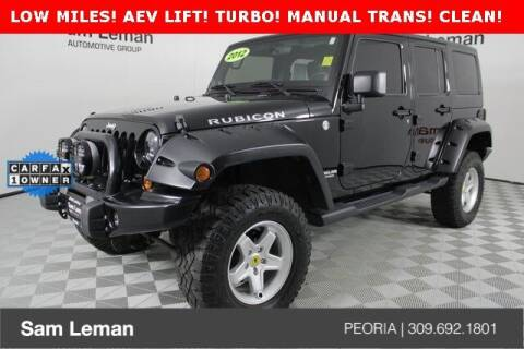 2012 Jeep Wrangler Unlimited for sale at Sam Leman Chrysler Jeep Dodge of Peoria in Peoria IL