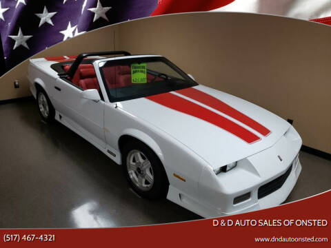 1992 Chevrolet Camaro for sale at D & D Auto Sales Of Onsted in Onsted   Brooklyn MI