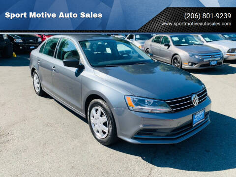 2016 Volkswagen Jetta for sale at Sport Motive Auto Sales in Seattle WA