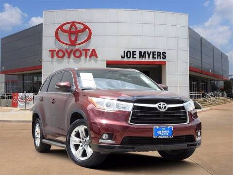 2016 Toyota Highlander for sale at Joe Myers Toyota PreOwned in Houston TX