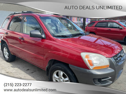2008 Kia Sportage for sale at AUTO DEALS UNLIMITED in Philadelphia PA
