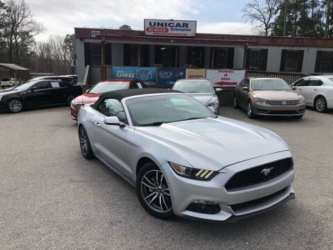 2017 Ford Mustang for sale at Unicar Enterprise in Lexington SC