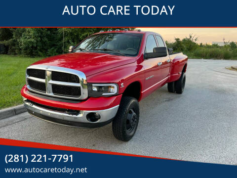 Dodge Ram 3500 for sale at AUTO CARE TODAY in Spring TX