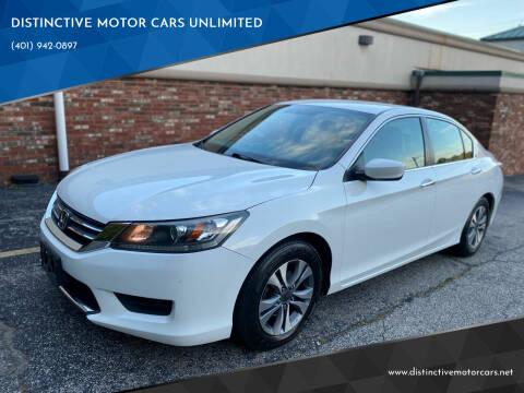 2014 Honda Accord for sale at DISTINCTIVE MOTOR CARS UNLIMITED in Johnston RI