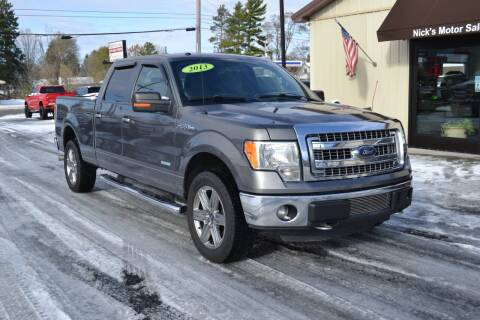 2013 Ford F-150 for sale at Nick's Motor Sales LLC in Kalkaska MI