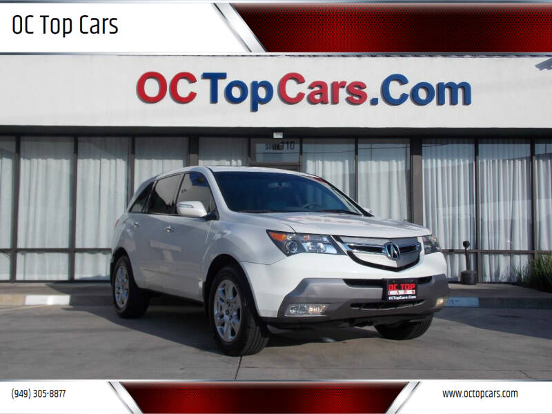 2008 Acura MDX for sale at OC Top Cars in Irvine CA