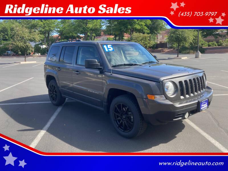 2015 Jeep Patriot for sale at Ridgeline Auto Sales in Saint George UT
