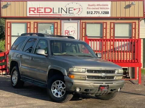2002 Chevrolet Tahoe for sale at REDLINE AUTO SALES LLC in Cedar Creek TX