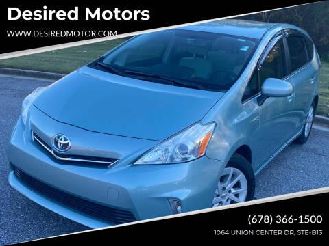 2013 Toyota Prius v for sale at Desired Motors in Alpharetta GA