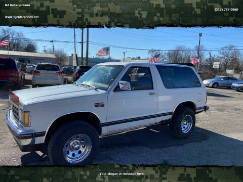 1984 Chevrolet S-10 Blazer for sale at NJ Enterprises in Indianapolis IN