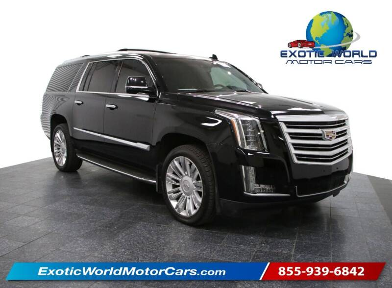 2015 Cadillac Escalade ESV for sale at Exotic World Motor Cars in Addison TX