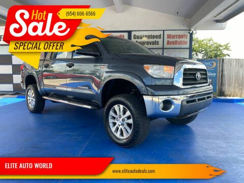 2009 Toyota Tundra for sale at ELITE AUTO WORLD in Fort Lauderdale FL