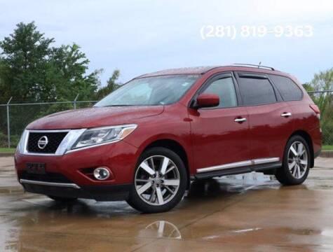 2015 Nissan Pathfinder for sale at BIG STAR HYUNDAI in Houston TX