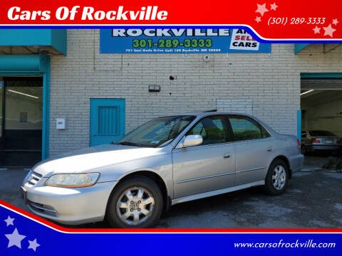 2001 Honda Accord for sale at Cars Of Rockville in Rockville MD