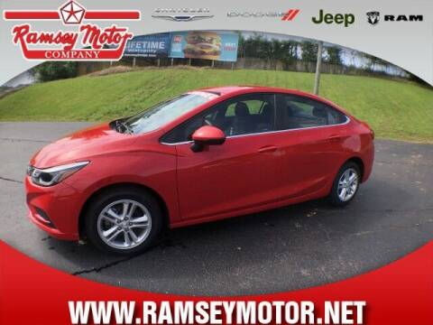2017 Chevrolet Cruze for sale at RAMSEY MOTOR CO in Harrison AR
