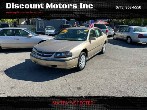 2004 Chevrolet Impala for sale at Discount Motors Inc in Madison TN