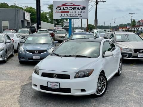 2009 Scion tC for sale at Supreme Auto Sales in Chesapeake VA