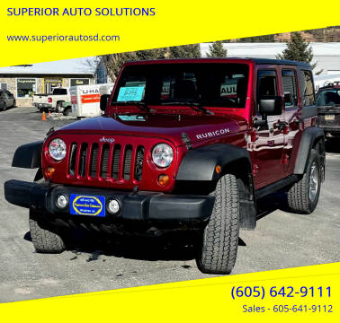 2012 Jeep Wrangler Unlimited for sale at SUPERIOR AUTO SOLUTIONS in Spearfish SD