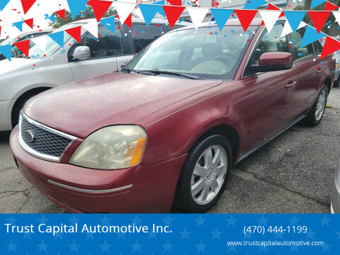 2005 Ford Five Hundred for sale at Trust Capital Automotive Inc. in Covington GA