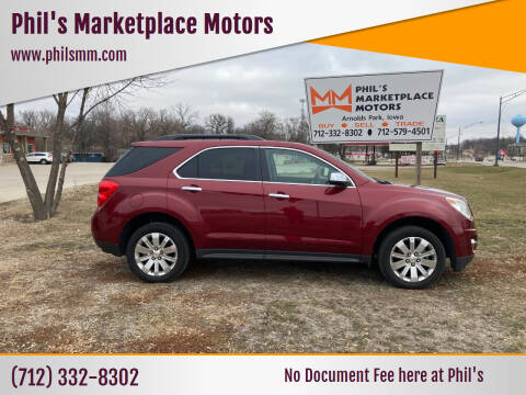 2011 Chevrolet Equinox for sale at Phil's Marketplace Motors in Arnolds Park IA