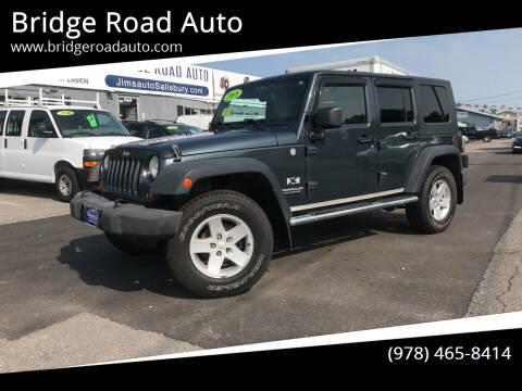 2007 Jeep Wrangler Unlimited for sale at Bridge Road Auto in Salisbury MA