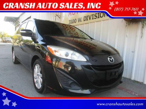 2015 Mazda MAZDA5 for sale at CRANSH AUTO SALES, INC in Arlington TX