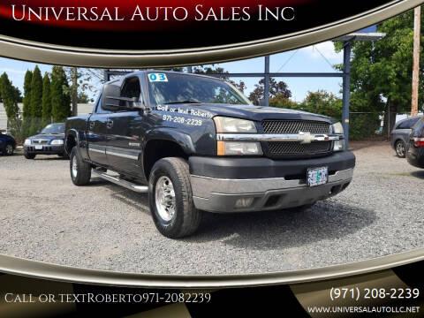2003 Chevrolet Silverado 2500HD for sale at Universal Auto Sales Inc in Salem OR