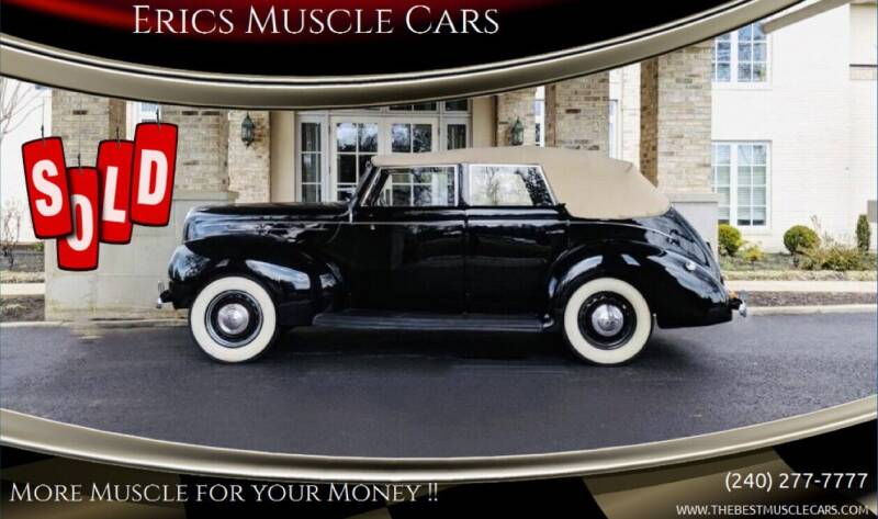 1939 Ford Deluxe for sale at Erics Muscle Cars in Clarksburg MD