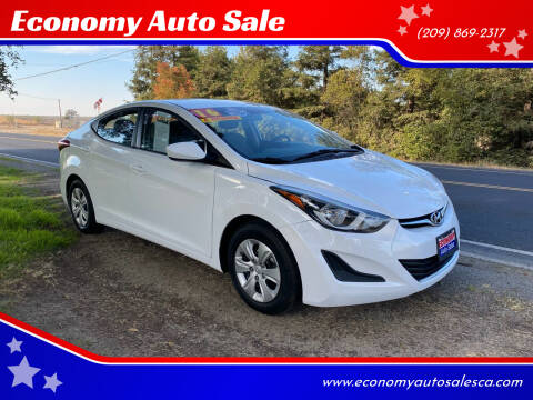 2016 Hyundai Elantra for sale at Economy Auto Sale in Modesto CA