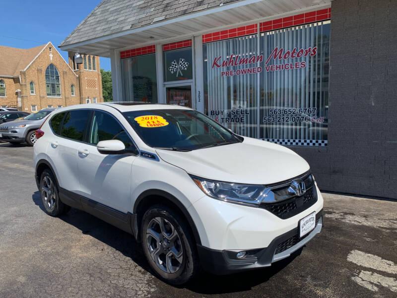 2018 Honda CR-V for sale at KUHLMAN MOTORS in Maquoketa IA