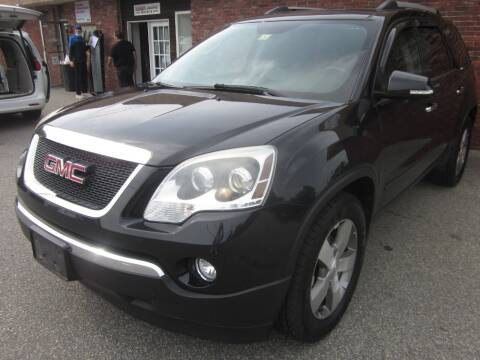 2012 GMC Acadia for sale at Tewksbury Used Cars in Tewksbury MA