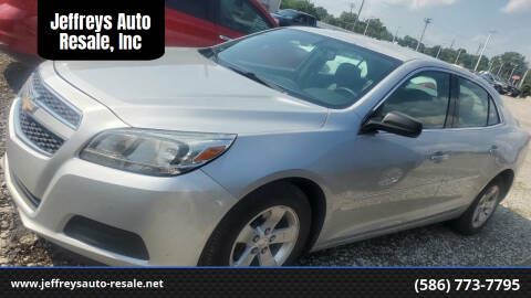 2013 Chevrolet Malibu for sale at Jeffreys Auto Resale, Inc in Clinton Township MI