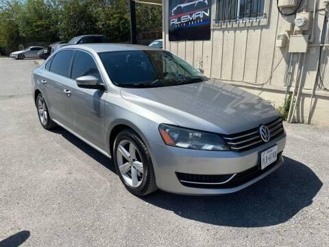 2014 Volkswagen Passat for sale at Lemanz Motors in San Antonio TX