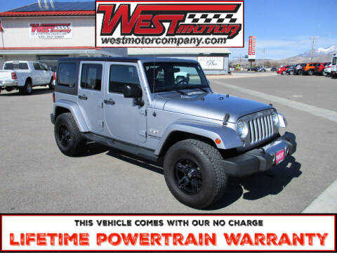 2016 Jeep Wrangler Unlimited for sale at West Motor Company in Hyde Park UT