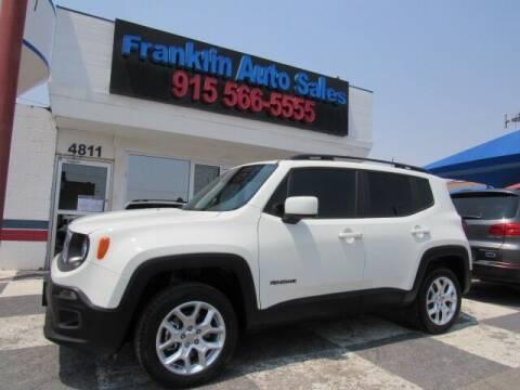 2018 Jeep Renegade for sale at Franklin Auto Sales in El Paso TX