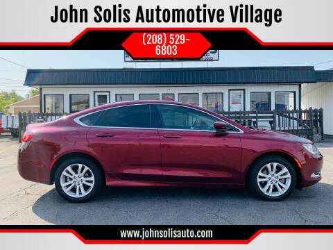 2016 Chrysler 200 for sale at John Solis Automotive Village in Idaho Falls ID
