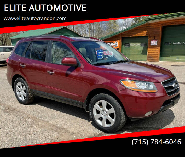 2009 Hyundai Santa Fe for sale at ELITE AUTOMOTIVE in Crandon WI