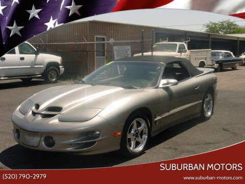 2001 Pontiac Firebird for sale at Suburban Motors in Tucson AZ