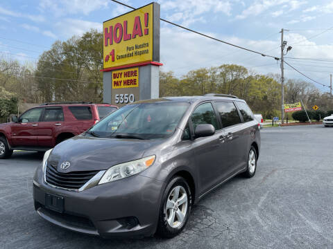 2012 Toyota Sienna for sale at No Full Coverage Auto Sales in Austell GA