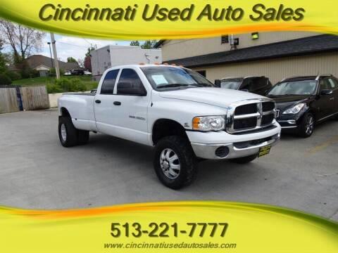 2004 Dodge Ram Pickup 3500 for sale at Cincinnati Used Auto Sales in Cincinnati OH