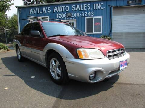 2003 Subaru Baja for sale at Avilas Auto Sales Inc in Burien WA