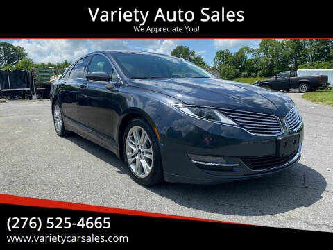 2014 Lincoln MKZ for sale at Variety Auto Sales in Abingdon VA