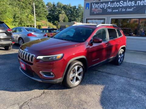 2019 Jeep Cherokee for sale at Variety Auto Sales in Worcester MA