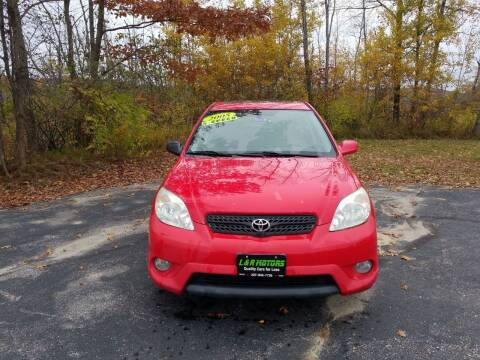 2005 Toyota Matrix for sale at L & R Motors in Greene ME