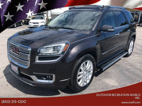 2016 GMC Acadia for sale at Outdoor Recreation World Inc. in Panama City FL