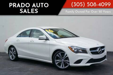 2016 Mercedes-Benz CLA for sale at Prado Auto Sales in Miami FL