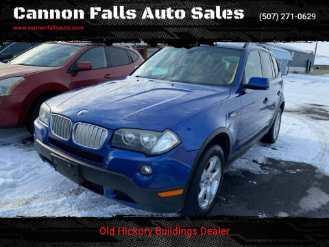 2008 BMW X3 for sale at Cannon Falls Auto Sales in Cannon Falls MN